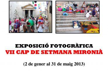 68 – EXPOSICIÓ FOTOGRÀFICA DEL VII CAP DE SETMANA MIRONIÀ